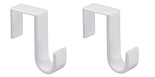 (Premium Life Pack of 2 Over-The- Over-The-Door Hook, White, W)