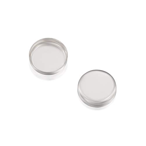 Round Setting 925 Sterling Silver 8 mm Bezel Cup Findings for Rings Pendants Charms Earrings, 6 Pack