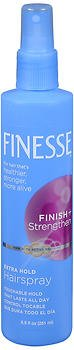 - Finesse Finish + Strengthen Extra Hold Non-Aerosol Hair Spray, 8.5 oz, 2 pk