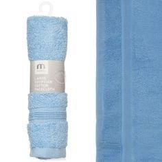 Meridiana Egyptian Cotton Facecloth, White Paul Murray PLC ME008W