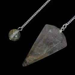 Rutilated Quartz Crystal Pendulum by CrystalAge ()