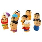 Stylish Crayon Shin-chan Character Figures Decoration Set-1.8 inch Tall (10-Figure Set)
