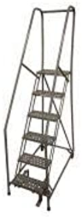 product image for Cotterman 1506R1824A1E10B4W4C1P6 - Rolling Ladder Steel 90In. H. Gray