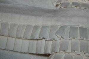 - 1 Yard Off White Cream Double Row Box Pleat Quilt Sewing Binding Trim 2