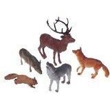 US Toy Woodland Forest Toy Animal Figures Action Figure (1 Dozen) (Action Figurine)
