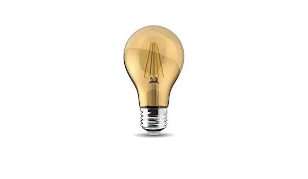 LED Vintage Gls Lámpara 4w 330 Lumens E27 2200k Instantáneo Inicio 106mm x 60mm Extra Cálido Dorado LED: Amazon.es: Iluminación