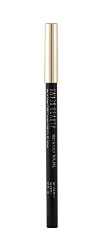 Swiss Beauty Bold & Black Kajal 24hours wear, Eye MakeUp, Black, 1.2g