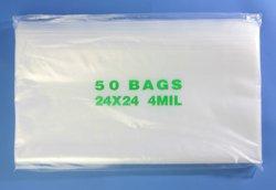 24'' x 24'', 4 Mil (Pack of 200) Heavy Duty Plastic Reclosable Zipper Bags