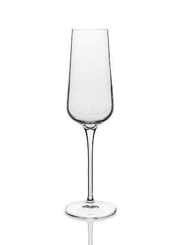 (Luigi Bormioli 10044/06 Intenso 8.25 oz Champagne Flutes (Set Of 6), Clear)