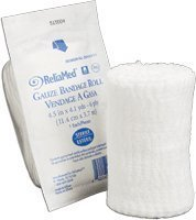 (Reliamed Gauze Bandage Roll, 6 Ply, 4 1/2