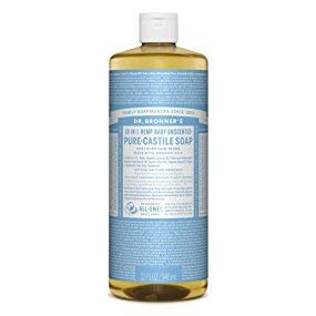 Dr. Bronner's Pure Castile Liquid Soap - Baby Unscented 32oz. by Dr. Bronner's