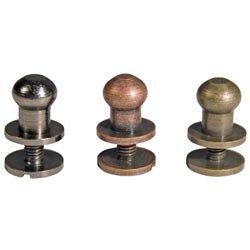 Bulk Buy: Advantus Tim Holtz Idea Ology .375 Hitch Fasteners 12/Pkg 4ea Antique Nickel/Brass/Copper TH92731 (3-Pack) -