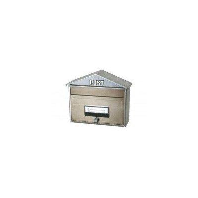 A4用封筒が投函できます おしゃれな屋根型フォルムです KGY ハウス型ポストCSP-848L シャイニーブラウン B07D8LNFJ8 12219