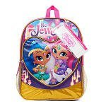 (Nickelodeon Shimmer and Shine Be Jewelled! Backpack with Two Side Mesh Pockets, Pencil Pouch and Sticker Sheet)