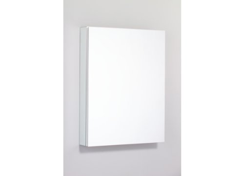 Robern PLM2430WRE PL Series 23 1/4-Inch Wide by 30-Inch High Right-Hinge Flat Mirrored Door, Plain