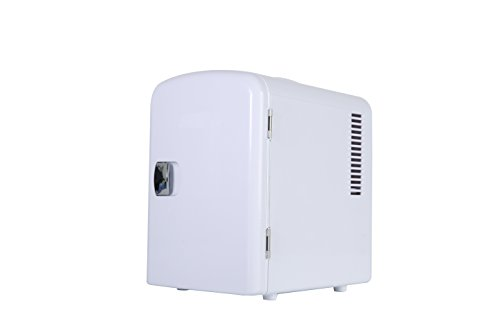 Portable 6 Can Mini Fridge Cooler - Home,Office, Car or Boat - AC & DC - White - 110/120V by Genric (Image #4)