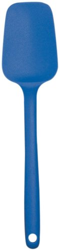 Mastrad Silicone Spoon Spatula - Non-Stick Rubber Spatula - Ideal For Mixing, Scooping and Scraping - Dishwasher Safe and High Heat Resistant (Blue)