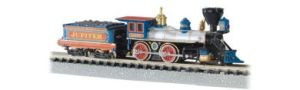"""Price comparison product image Bachmann 4-4-0 American Locomotive And Tender - Central Pacific """"Jupiter"""" - N Scale"""