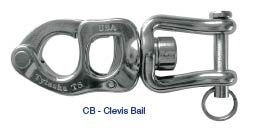 Tylaska Trigger Release Snap Shackle (T5, Clevis Bail (1/4