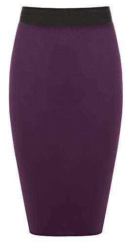 WITH Noir Jupe STYLE RIDDLED Taille Violet Unique Uni Femme qXCZnUwd