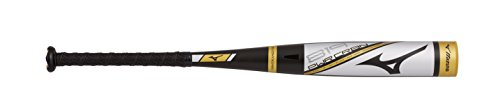 Mizuno B19-PWR CRBN Big Barrel Youth Usa Baseball Bat (-10), Silver-Gold 30