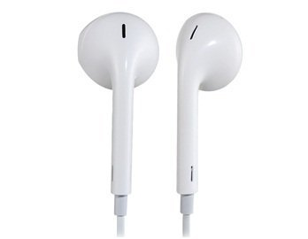 3.5mm Plug In-ear Earphone with Microphone & Volume Control for iPhone, iPod, iPad Best Seller (White)