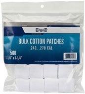 Gunslick Patches - Gunslick 500-Count Bulk Cotton Patches (.17-.22 Caliber)