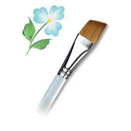 Royal & Langnickel R2160-3/8 Taklon Watercolor and Acrylic Brush Angular 3/8