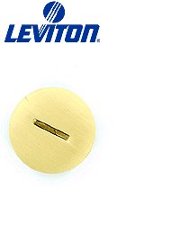 Leviton 25249-CAP Replacement Cap for Floor Box Duplex Receptacle 1.46 Inch - Brass (Pkg of 3)