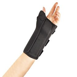 Fla 22-461LGBLK Pro Lite Wrist Splint With Abducted Thumb for Left, Black, Large
