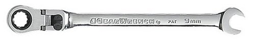 GearWrench 9909 9mm Flex-Head Combination Ratcheting Wrench