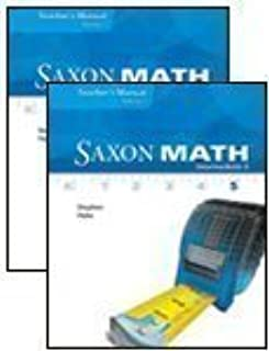 amazon com saxon math intermediate 5 teacher s manual volume 1 rh amazon com Saxon Math Intermediate 5 Practice Lesson 9 Saxon Math Intermediate 5 Lesson 31