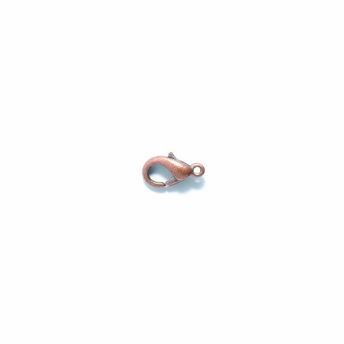 Shipwreck Beads Base Metal Lobster Clasp, Antique Copper, 6 by 12-1/2 mm, 100-Pack (Lobster Metal Base)