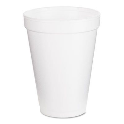 Dart : Drink Foam Cups, 12 Ounces, White, 40 Bags of 25 Per Carton -:- Sold as 2 Packs of - 1000 - / - Total of 2000 Each