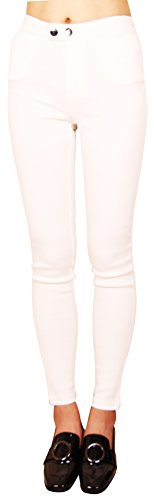 Lucky Guide Women's SP-68 Korea Pencil Slim Fit Skinny Magic Legging (White)