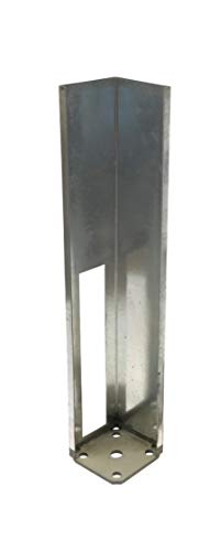 """5""""x5"""" Vinyl Fence Concrete/Wood Post Mount Tower with Mounting Kit (5""""x5""""x24"""")"""