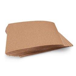 Norton Sandpaper - Medium (100 Grit) pkg of 50 Sheets - Arts & Crafts Materials - 9714789 B by Norton
