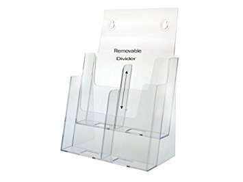 (Dazzling Displays Clear Acrylic 2-Tier Brochure Holder for 8.5