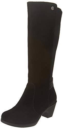 (Comfy Moda Women's Snow Boots Mid Calf Dressy Fur Lined Leather Winter Boot Zoe (8(M) US, Black))