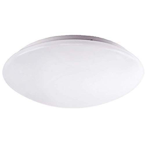 OSTWIN 11-inch LED Flush mount Ceiling Light MS Series 20W (100 Watt equivalent), Dimmable, 4000K (Bright white), 1839 Lumens, White Finish with Acrylic white shade, ETL and ENERGY STAR listed