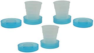 Collapsible Cup and Pill Case In One, With Travel Cup And Lid (Set of 3) (Pill Box Collapsible)