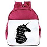 Custom Cute Always Be A Unicorn Kids School Bagpack Bag For 1-6 Years Old Pink