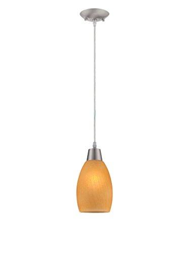 Lite Source LS-19099L/AMB Inga Pendant, Mini, Light Amber - Amb Mini Pendant