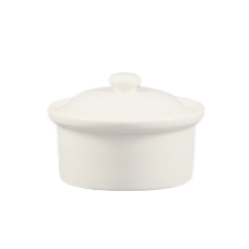 12 Ounce Casserole (CAC China CAS-10 12-Ounce Porcelain Round Casserole with Lid for Baking, 5-1/4 by 2-1/2-Inch, Bone White, Box of 24)