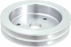 Spectre Performance 4460 Aluminum Double Belt Crankshaft Pulley for Big Block Chevy with Short Water (Big Block Chevy Crankshaft)