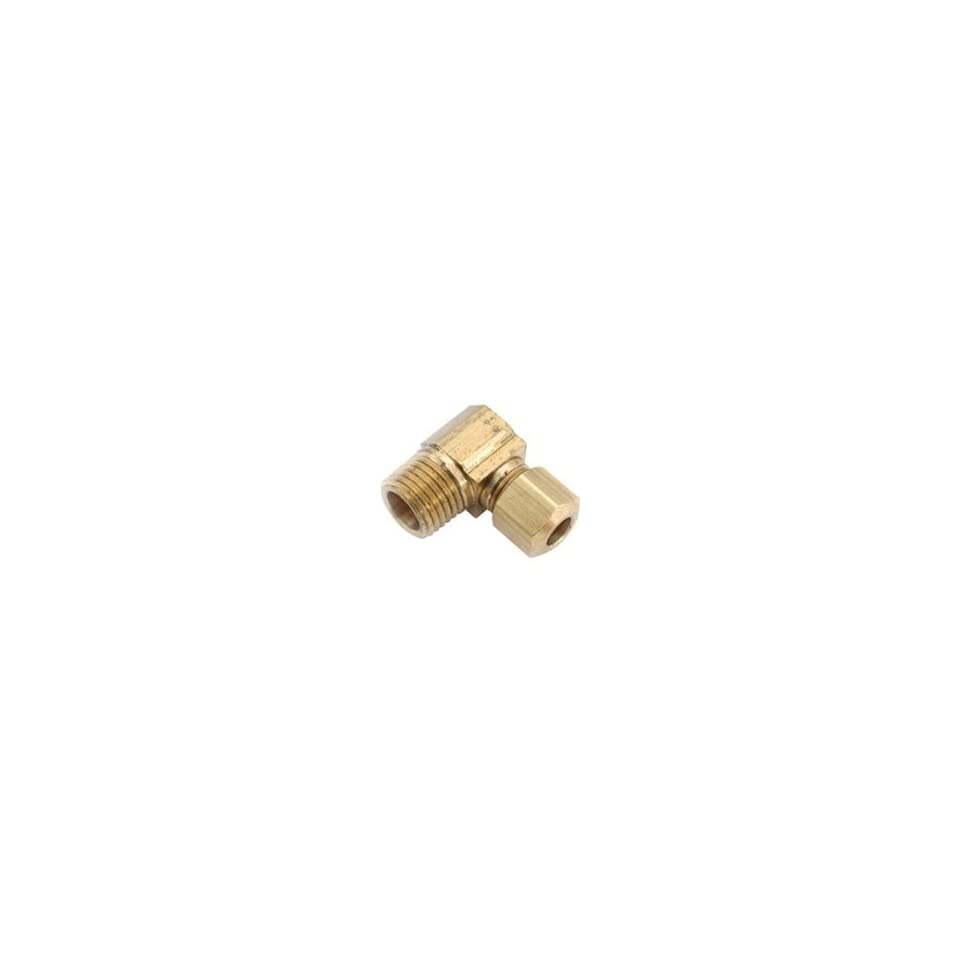 Anderson Metal Corp 750069 0408 Brass Compression Fitting Elbow FLF 769 1/4 x 1/2