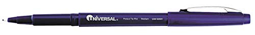 Stick Medium-Point Porous Point Rollerball Pen, 0.7mm, Blue - Pack of 5 by UNIVERSAL ONE (Image #1)