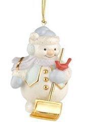 (Lenox Snowman Shoveling Snow Porcelain Ornament)
