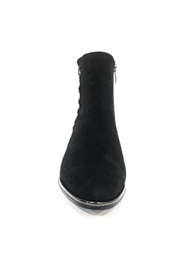 Low Boot Shoes Corset Black Basso Woman Stivaletto Stivaletti Donna Heel Tacco Scarpe Nero Ankle HwPP7qxS