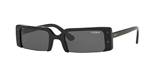 VOGUE Women's 0vo5280sb Rectangular Sunglasses, Black, 57.1 mm ()